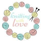 Logo de tricotage Photo stock