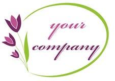 Logo de tulipe Photo libre de droits