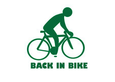 Logo de vélo Photographie stock libre de droits