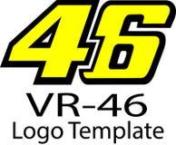 Logo de Valentino Rossi et de calibre illustration de vecteur