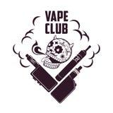 Logo de vape d'illustration de vintage de vecteur photos stock