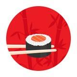 Logo de vecteur avec des sushi Image stock