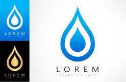 Logo de vecteur de baisse de l'eau illustration stock