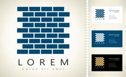 Logo de vecteur de briques illustration stock