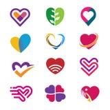 Logo de vecteur d'icône de coeur, concept de vecteur de logo de coeur illustration stock