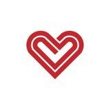 Logo de vecteur d'icône de coeur illustration libre de droits