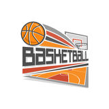 Logo de vecteur de basket-ball Images stock