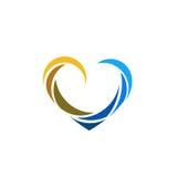 Logo de vecteur de couleur d'icône de coeur illustration de vecteur