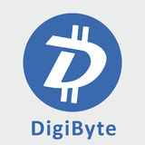 Logo de vecteur de criptocurrency de blockchain décentralisé par DGB de DigiByte Photos stock