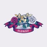Logo de vecteur de fleuriste Illustration Libre de Droits
