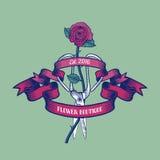 Logo de vecteur de fleuriste Illustration de Vecteur