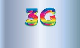 logo de vecteur de la technologie du sans fil 3G Images libres de droits