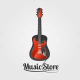 Logo de vecteur de magasin de musique Illustration de Vecteur