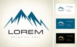 Logo de vecteur de montagnes Images libres de droits