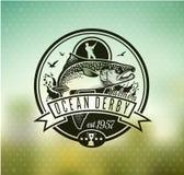 Logo de vecteur de pêche Icône de Salmon Fish Image libre de droits