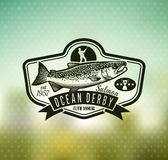 Logo de vecteur de pêche Icône de Salmon Fish illustration de vecteur