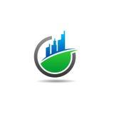 Logo de vecteur de terrain à bâtir illustration libre de droits