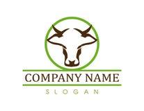 Logo de vecteur de vache Images libres de droits