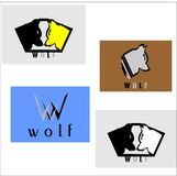 Logo de vecteur de loup photo libre de droits