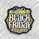 Logo de vecteur pour Black Friday illustration de vecteur