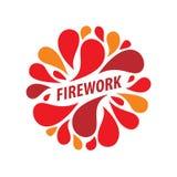Logo de vecteur pour des feux d'artifice illustration de vecteur