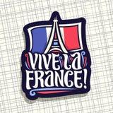 Logo de vecteur pour des Frances de La de Vive de devise ! Photos libres de droits