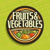 Logo de vecteur pour des fruits et légumes Illustration Stock