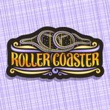 Logo de vecteur pour des montagnes russes illustration stock