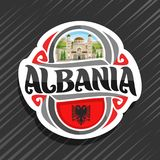 Logo de vecteur pour l'Albanie Photo libre de droits