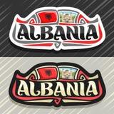 Logo de vecteur pour l'Albanie Photos stock