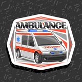 Logo de vecteur pour l'ambulance illustration libre de droits