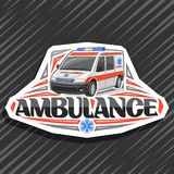 Logo de vecteur pour l'ambulance illustration de vecteur