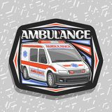 Logo de vecteur pour l'ambulance illustration stock