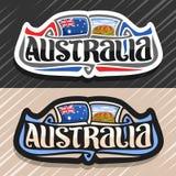 Logo de vecteur pour l'Australie illustration stock