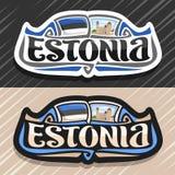 Logo de vecteur pour l'Estonie illustration stock