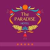 Logo de vecteur pour l'hôtel le paradis Photo stock