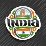 Logo de vecteur pour l'Inde Images libres de droits