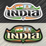 Logo de vecteur pour l'Inde Images stock