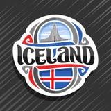 Logo de vecteur pour l'Islande illustration de vecteur