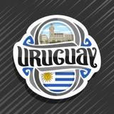 Logo de vecteur pour l'Uruguay illustration de vecteur