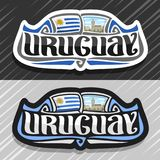 Logo de vecteur pour l'Uruguay illustration stock