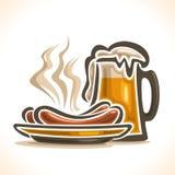 Logo de vecteur pour la bière illustration de vecteur