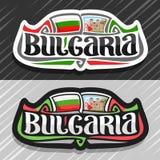 Logo de vecteur pour la Bulgarie Photographie stock