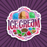 Logo de vecteur pour la crème glacée  Image stock