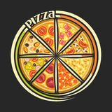 Logo de vecteur pour la pizza italienne Illustration Stock