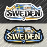 Logo de vecteur pour la Suède Image libre de droits