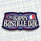 Logo de vecteur pour le jour de bastille Photographie stock