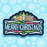 Logo de vecteur pour le Joyeux Noël illustration stock