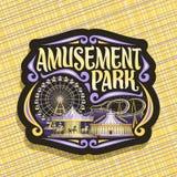 Logo de vecteur pour le parc d'attractions illustration de vecteur