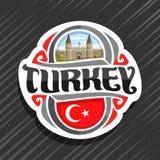 Logo de vecteur pour le pays de la Turquie Photos stock